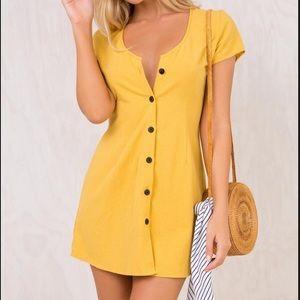 Princess Polly | Hibiscus Yellow Dress